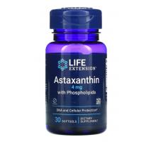 Life Extension, астаксантин с фосфолипидами, 4 мг (30 капс)