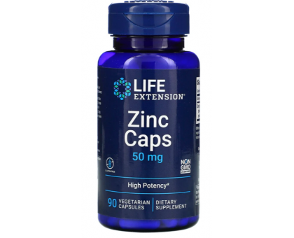 Life Extension цинк в капсулах 50 мг (90 табл.)