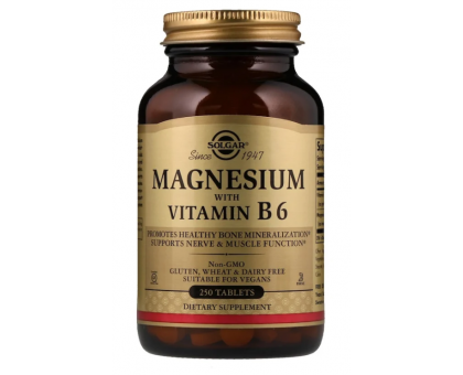Solgar Магний с витамином В6 (250 таб)
