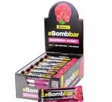 Bombbar протеиновый батончик малиновый сорбет в шоколаде (40 гр.)