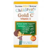 California Gold Nutrition витамин C в жидкой форме для детей со вкусом апельсина (118 мл)