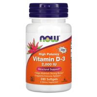 Now, витамин Д-3, vitamin D3, 50 мкг (2000 МЕ), (240 капс)