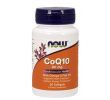 NOW CoQ10 60 mg + Omega-3 (60 гел.капс)