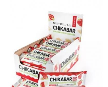 Bombbar Chikalab протеиновый батончик клубника со сливками (60 грамм)
