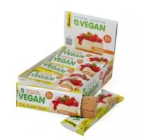 Bombbar Веганский протеиновый батончик банановый торт с клубникой (60 грамм)
