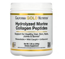 California Gold Nutrition, гидролизованные пептиды морского коллагена (200 гр)