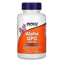 Now Alpha GPC, альфа-ГФХ, 300 мг (60 капс)