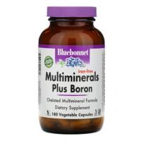 Bluebonnet Nutrition  Мультиминералы с бором, без железа (180 капс)