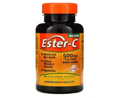 American Health, Ester-C с цитрусовыми биофлавоноидами, 500 мг (120 капс)